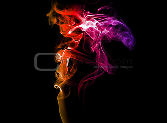 Abstract colored smoke