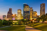 Houston Texas Skyline and Park