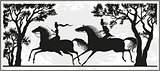 Illustration of a Couple Riding