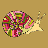 Snail. Cute Vector Illustration