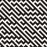 Vector Seamless Jumble ZigZag Lines Diagonal Geometric Pattern