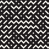Vector Seamless Black And White Jumble ZigZag Lines Pattern