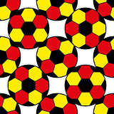 Pattern for football championship. A soccer ball pattern and a Germany flag