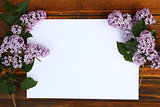 paper with purple flowers