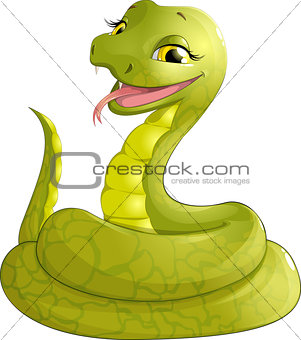 sly serpent smiling