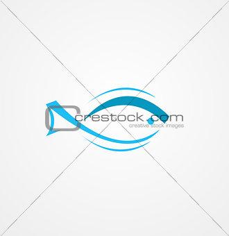 fish logo design vector background