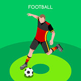 Soccer 2016 Summer Games Isometric 3D Vector Illustration