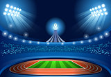 Stadium Background 2016 Summer Games Illustration Vector