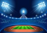 Stadium Background 2016 Summer Games Illustration Vector