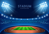 Stadium Background 2016 Summer Games Vector Illustration