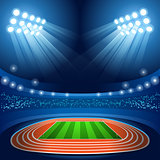 Stadium Background Summer Games 2016 Vector Illustration
