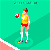 Volleyball 2016 Summer Games 3D Isometric Vector Illustration