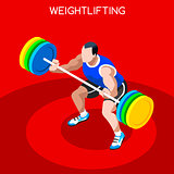 Weightlifting 2016 Summer Games 3D Isometric Vector Illustration