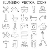 plumbing emblems, labels and design elements