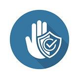 Secured Area Icon. Flat Design.