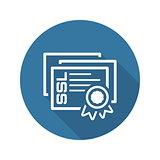 SSL Certificates Icon. Flat Design.