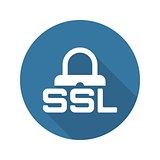 SSL Secured Icon. Flat Design.