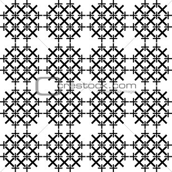 Abstract vector pattern of cross