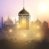 Ramadan lantern background
