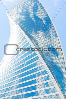 modern skyscrapers of steel and glass