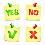 Yes and No Check marks