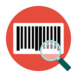 Identification barcode flat icon