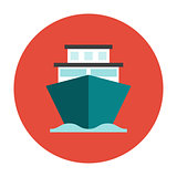 Ship flat icon