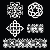 Celtic Irish white patterns and knots - St Patrick's Day