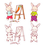 Cartoon Bunnies