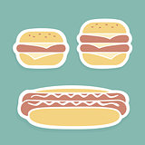 Set of Vector symbols Fast Food