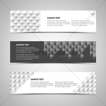 Abstract horizontal banners with design patterns