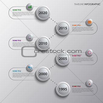 Time line info graphic with design bubbles template
