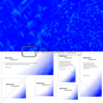 Abstract background blue banner