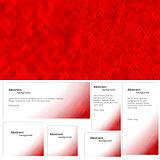 Abstract background red banner
