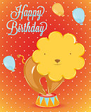 Birthday card lion