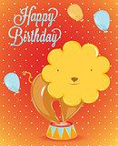 Birthday card lion