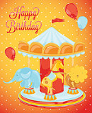 Birthday card carousel