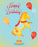 Birthday card horse