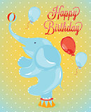 Birthday card elephant