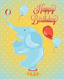 Birthday card elephant
