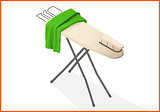 ironing table vector 3d illustration