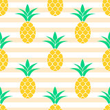 Summer pineapple pattern design. Pastel colors background.