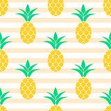 Summer pineapple pattern design. Pastel colors background.