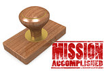 Mission accomplished wooded seal stamp