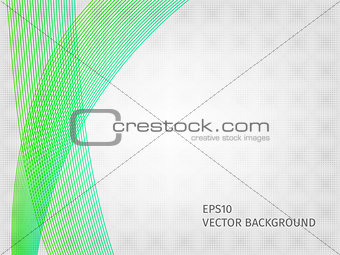 Abstract waved line background