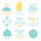 Yoga Studio Vintage Stamp Collection
