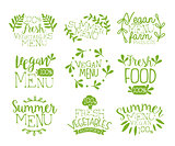 Vegan Food Vintage Stamp Collection