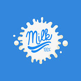 Double Underline Milk Product Logo