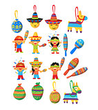 Mexican Trditional Fiesta Elements Collection