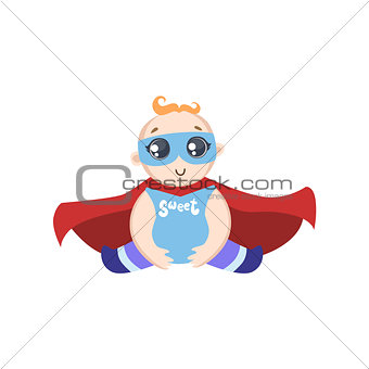Baby Dressed As Superhero With Mask